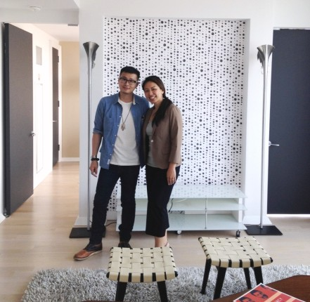 Mandarin Chinese Speaking Agent Eileen Hsu and her buyer who just bought his new condo in Manhattan New York.