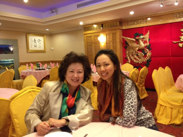 Celebrating holidays. Mandarin Chinese speaking agent Eileen Hsu and her mother.